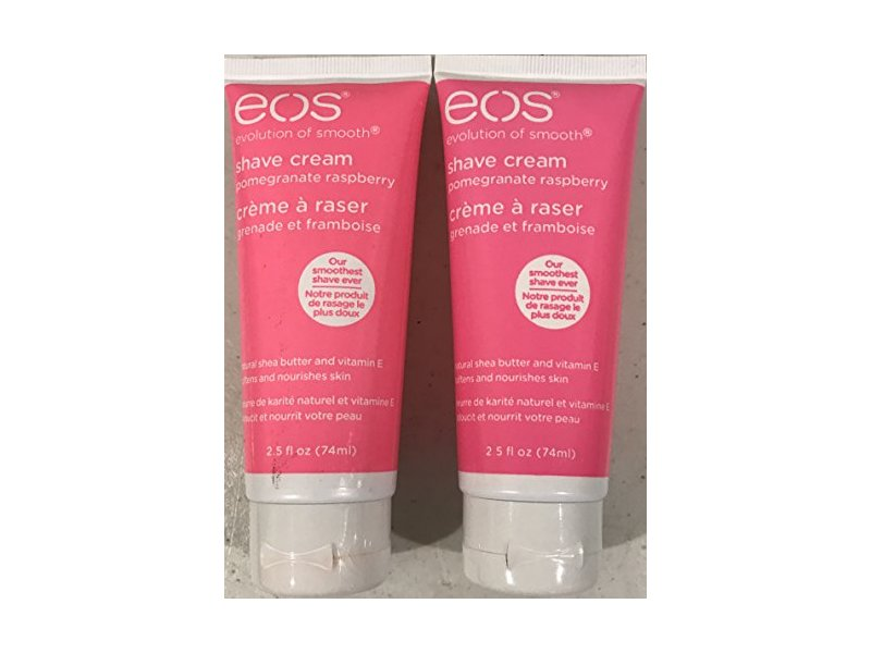 EOS Shave Cream, Pomegranate Raspberry, Travel Size 2.5 Oz. - Pack of 2