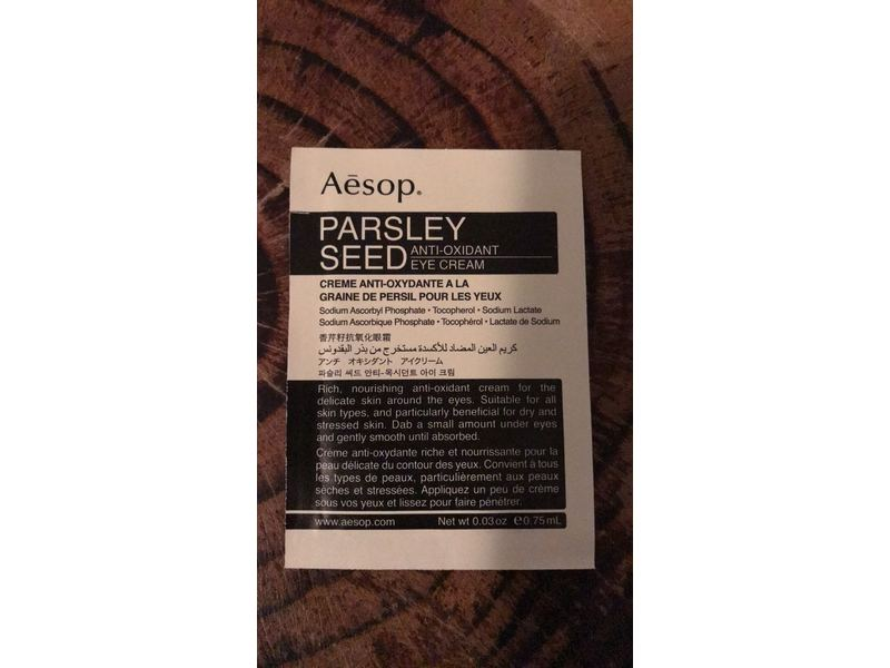 Aesop Parsley Seed Antioxidant Eye Cream, Sample Size