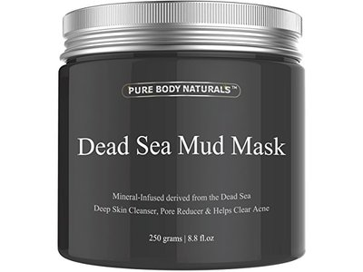 Pure Body Naturals Beauty Dead Sea Mud Mask for Facial Treatment, 250g / 8.8 fl.oz - Image 1