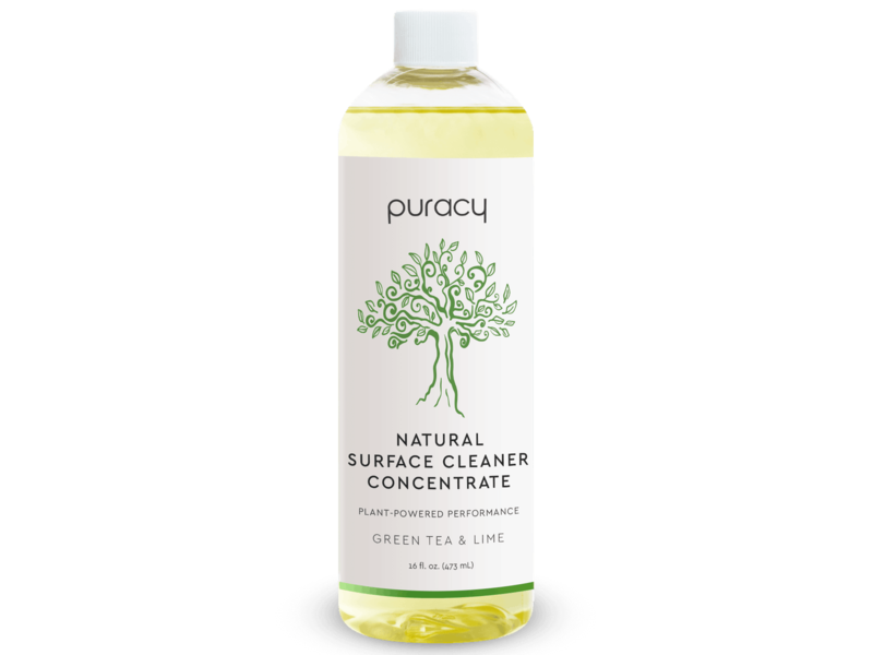 Puracy Natural Surface Cleaner Concentrate, Green Tea & Lime, 16 fl oz/473 mL
