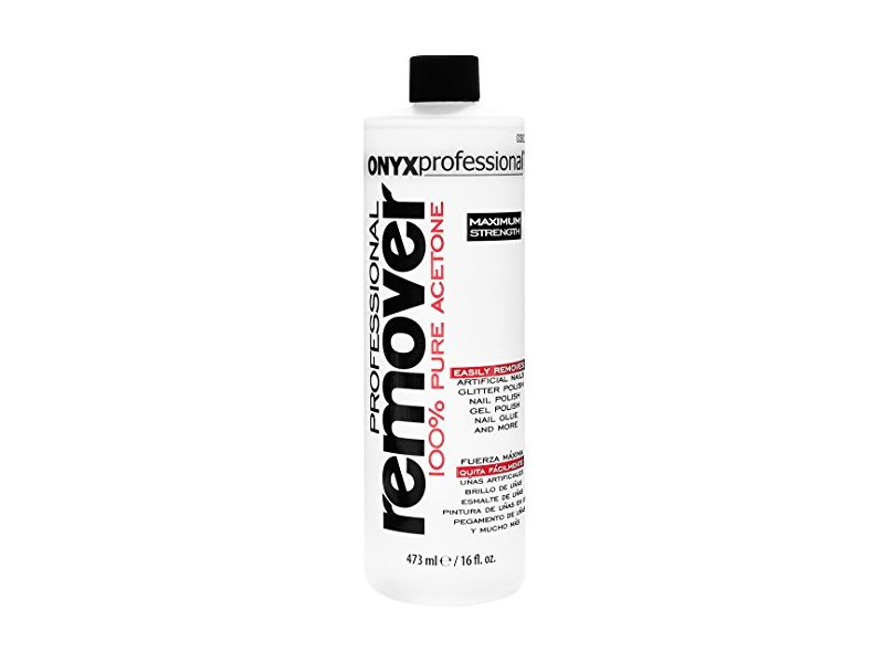 Onyx Professional 100% Acetone Nail Polish Remover, 16 Ounce