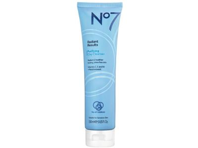 Boots No7 Radiant Results Purifying Clay Cleanser, 5 fl oz
