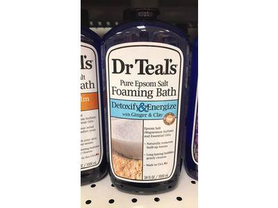Dr Teal's Pure Epsom Salt Foaming Bath, Detoxify & Energize