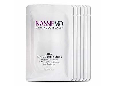 Nassif Md 3HA Micro-Needle Strips Targeted Treatment, Hyaluronic Acid, 6 Pairs