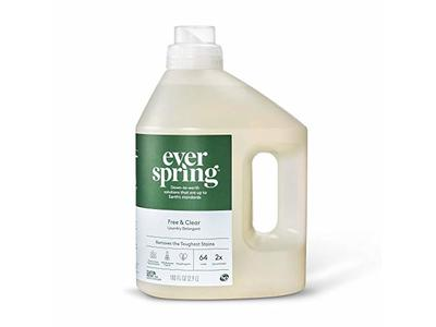 Everspring Free & Clear Liquid Laundry Detergent, 100 FL OZ