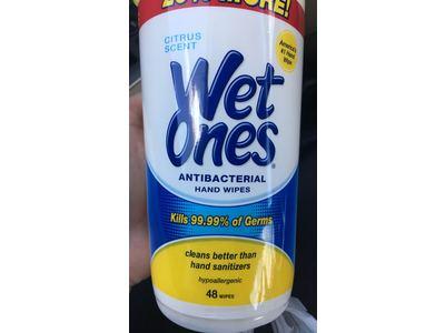 Wet Ones Antibacterial Hand Wipes, Citrus, 40 count - Image 3