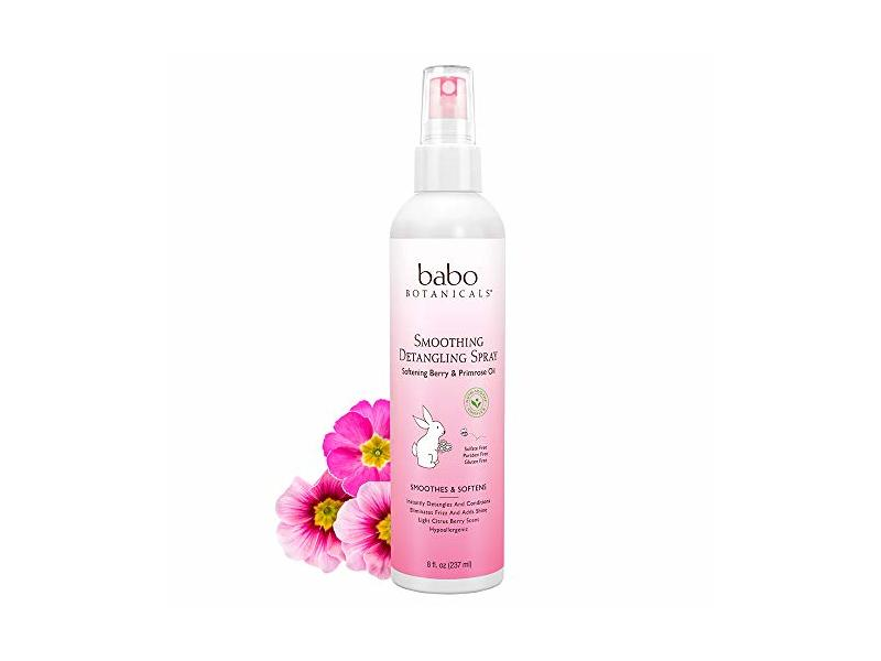 Babo Botanicals Berry Primrose Smoothing Detangling Spray, 8 fl oz