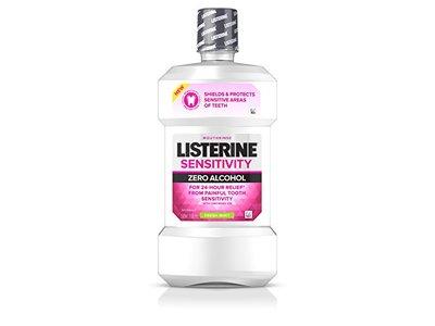 Listerine Sensitivity Mouthwash, Fresh Mint, 500 mL