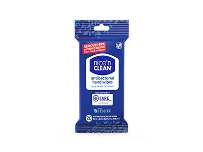 Nice 'n CLEAN Anti-Bacterial Hand Wipes, 20 Count