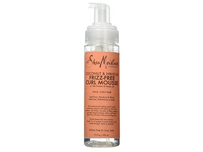 Shea Moisture Frizz-Free Curl Mousse, Coconut & Hibiscus, 7.5 fl oz (Pack of 2)