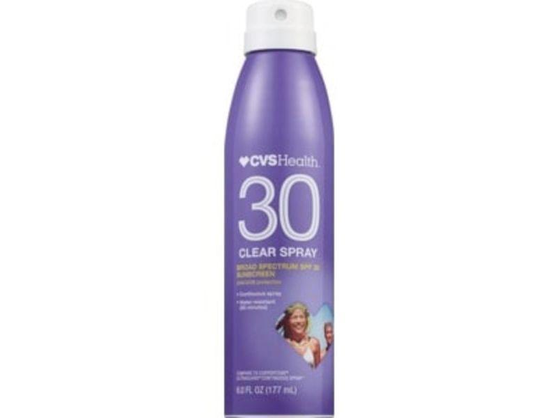 CVS Health Clear Broad Spectrum Sunscreen Spray SPF 30