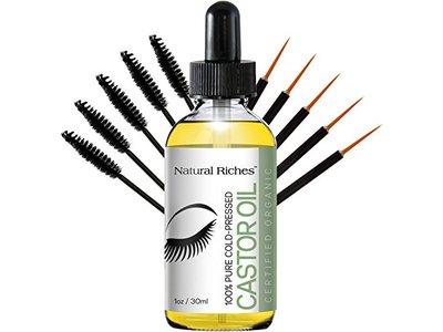 Natural Riches 100% Pure Organic Cold Pressed Castor Oil, 1 fl oz