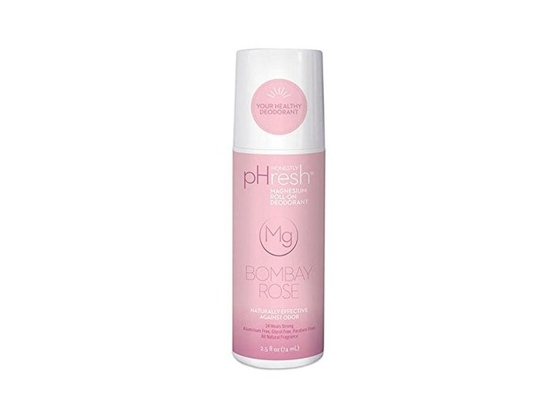 Honestly pHresh Magnesium Roll-On Deodorant, Bombay Rose, 2.5 fl oz