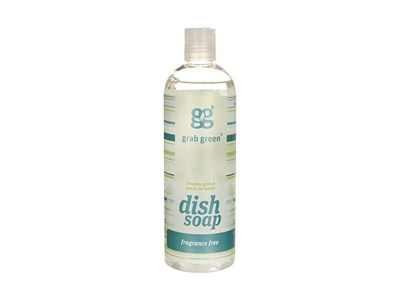 Grab Green Liquid Dish Soap, Fragrance Free, 16 oz