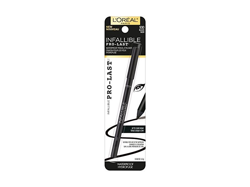 L'Oreal Paris Cosmetics Infallible Pro-Last Waterproof Pencil Eyeliner, Black, 0.042 Ounce