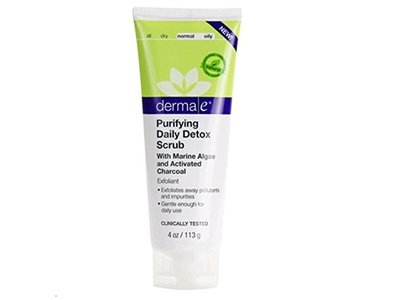 derma e Purifying Daily Detox Scrub with Marine Algae and Activated Charcoal