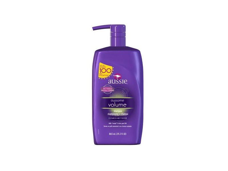 Aussie Aussome Volume Shampoo with Pump 29.2 Fl Oz- Volumizing Shampoo (Pack of 4)