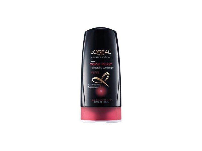 L'Oreal Paris Advanced Haircare - Triple Resist Reinforcing Conditioner, Arginine, 25.4 fl oz