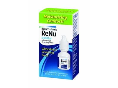 Bausch & Lomb ReNu MultiPlus Lubricating and Rewetting Drops, 0.27 Ounce Bottle - Image 1