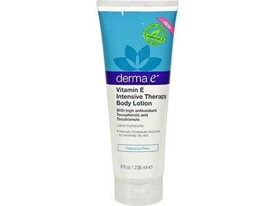Derma E Vitamin E, Intensive Therapy Body Lotion, Fragrance Free, 8 FLuid Ounces