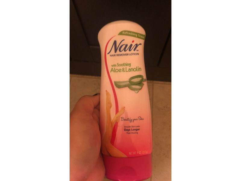 Nair Hair Remover Lotion For Legs Body Aloe Lanolin 9 Oz