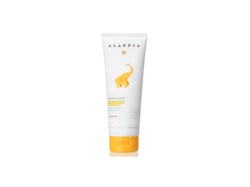 Alaffia Baobab Baby, 2-In-1 Shampoo & Body Wash, Chamomile, 8 fl oz/236 mL
