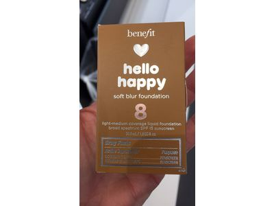 Benefit Cosmetics Hello Happy Soft Blur Foundation, Shade 8, 1 fl oz - Image 3