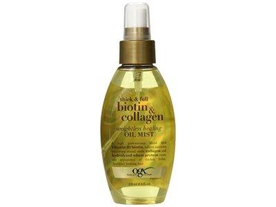 OGX Thick & Full Biotin & Collagen Weightless Healing Oil Mist, 4 Ounce