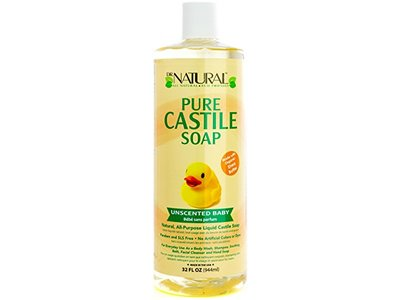 Dr. Natural Pure Castile Soap, Unscented Baby, 32 fl oz