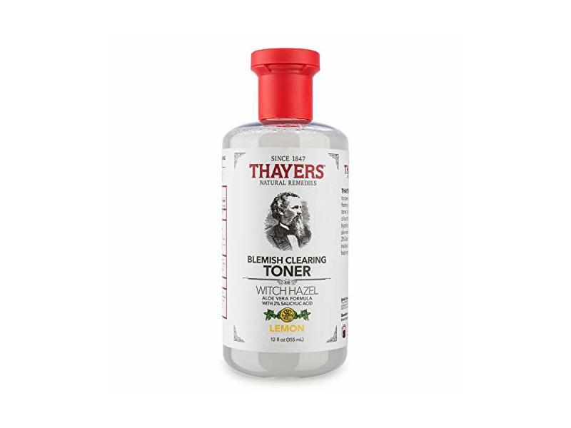 Thayers Blemish Clearing Toner Witch Hazel, Lemon, 12 fl oz/355 mL