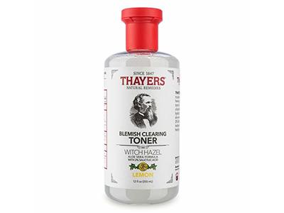 Thayers Blemish Toner Witch Hazel, Lemon, 12 Ounce
