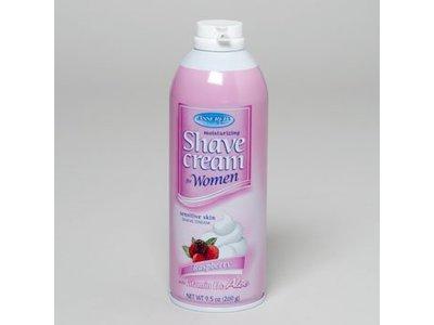Assured Moisturizing Shave Cream for Women, Raspberry, 9.5 oz