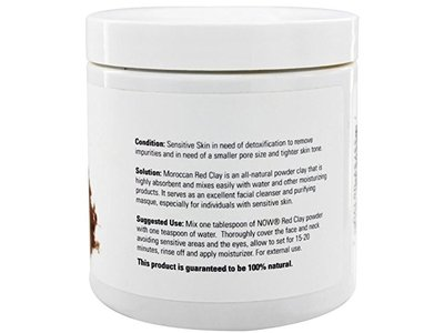 Now Solutions Moroccan Red Clay Powder, 14 oz - Image 3