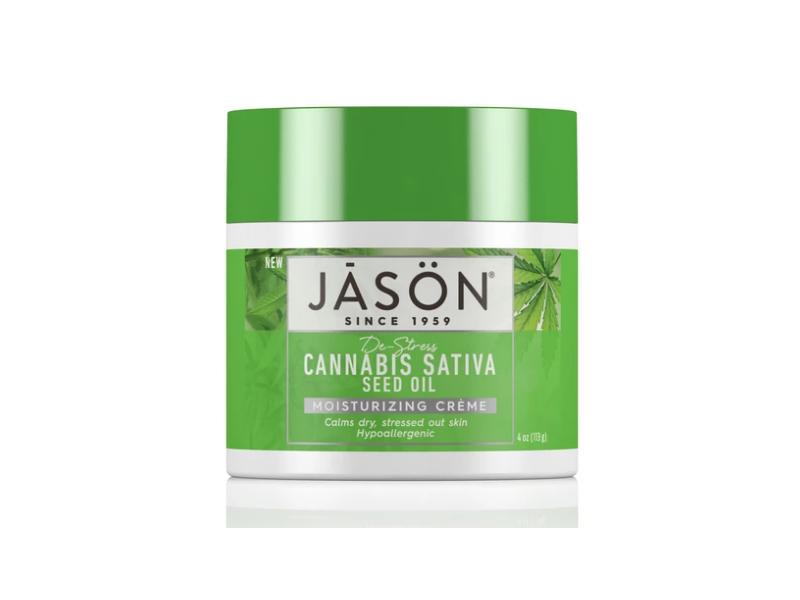 Jason Moisturizing Creme, Cannabis Sativa Seed Oil, 4 oz/113 g