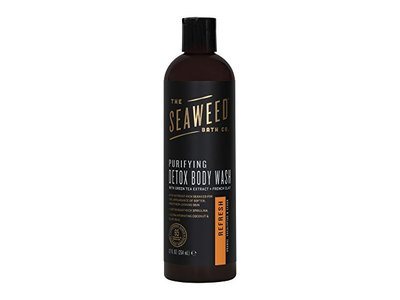 The Seaweed Bath Co. Purifying Detox Body Wash, Refresh Scent (Orange, Eucalyptus & Cedar),12 fl. oz.