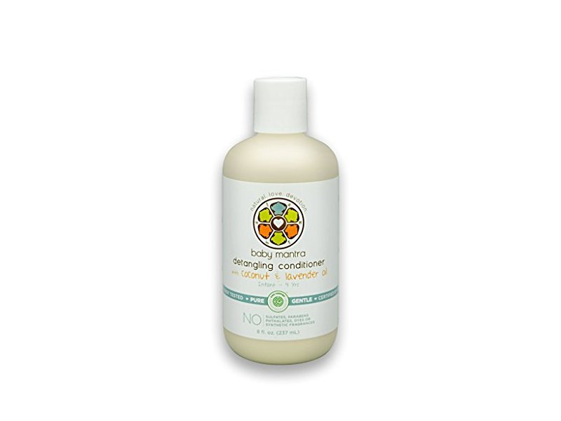 Baby Mantra Detangling Conditioner With Coconut & Lavender 8 Ounce Bottle