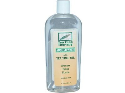 Tea Tree Therapy Mouthwash With Tea Tree Oil, Alcohol Free, Natural Fresh Flavor, 12 fl oz