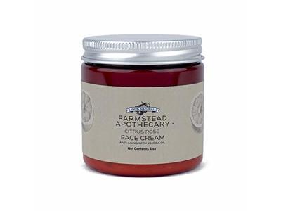 Farmstead Apothecary 100% Natural Anti-Aging Face Cream with Jojoba Oil, Citrus Rose 4 oz