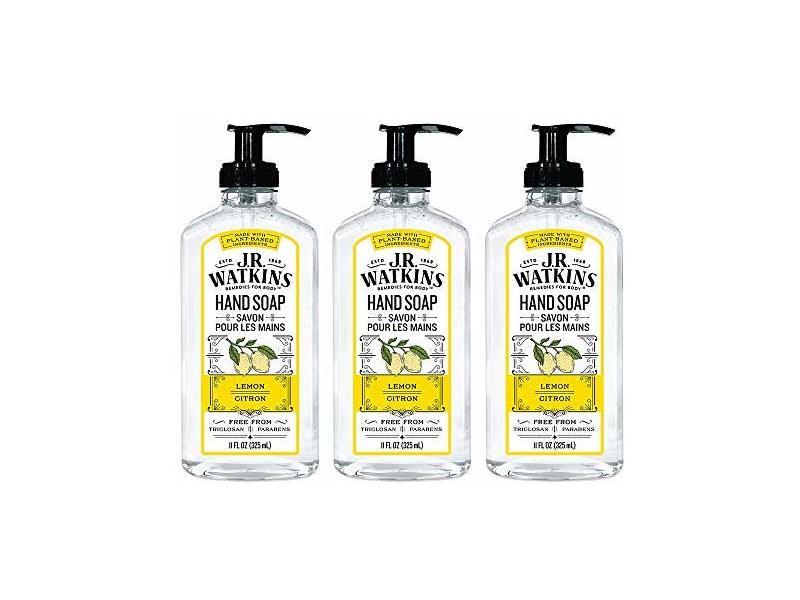 J.R. Watkins Foaming Hand Soap, Lemon, 3-pack