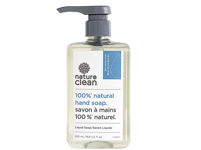 Nature Clean Liquid Hand Soap, Unscented, 16.8 Fluid Ounce.