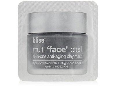 bliss Multi-'Face'-eted All-In-One Anti-Aging Clay Mask, 0.8 oz. - Image 1