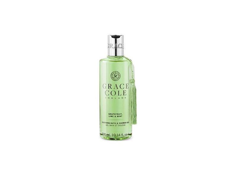Grace Cole England Soothing Bath & Shower Gel, Grapefruit, Lime & Mint, 10.14 fl oz