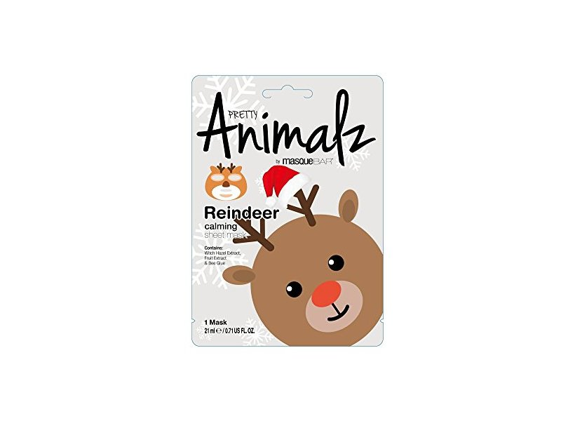 MasqueBar Pretty Animalz Reindeer Sheet Mask Gray, 0.71 fl oz