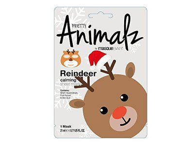 MasqueBar Pretty Animalz Reindeer Sheet Mask Gray, 0.71 fl oz