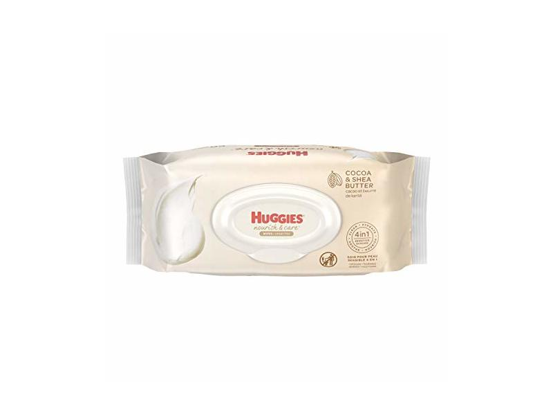Huggies Nourish & Care Scented Baby Wipes, Cocoa & Shea Butter, 56 count