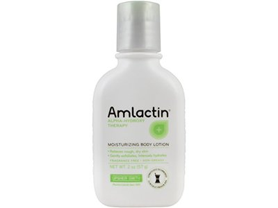 AmLactin Alpha-Hydroxy Therapy Moisturizing Body Lotion with Lactic Acid for Dry Skin 2 Ounce