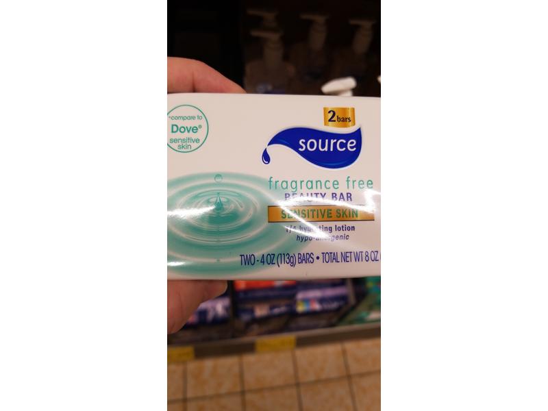 Source Fragrance-Free Beauty Bar Sensitive Skin, 4 oz