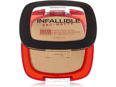 L'Oreal Paris Infallible Pro-Matte Powder, Natural Beige, 0.31 oz (Pack of 2) - Image 1