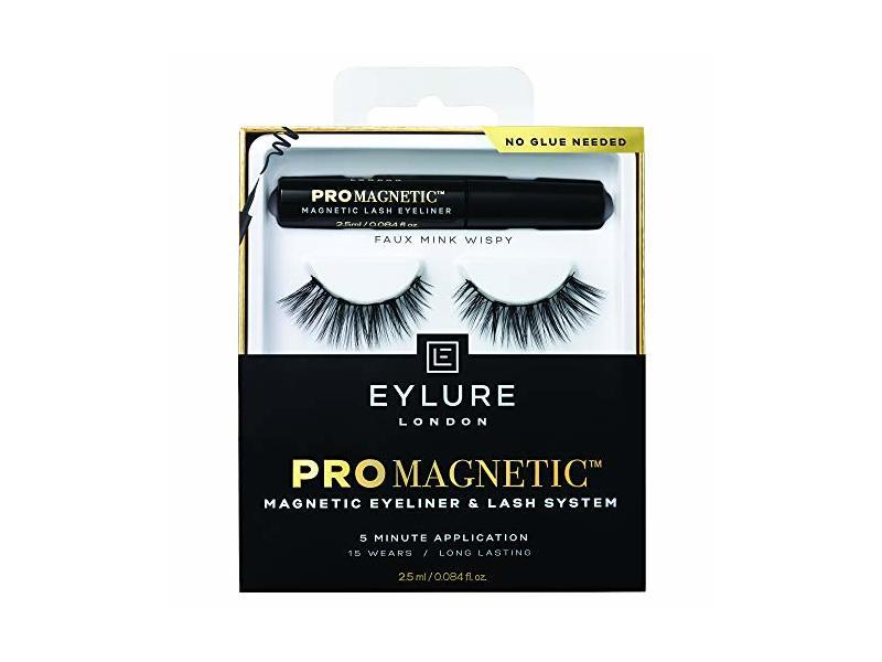 Eylure London ProMagnetic Eyeliner & Lash System, Faux Mink Wispy, 0.084 fl oz/25 ml