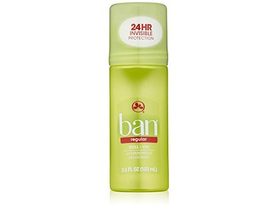 Ban Roll-On Antiperspirant Deodorant, Regular, 3.5 Fluid Ounce